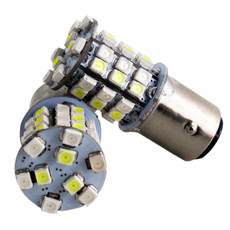 Race Sport Lighting 1157 White-Yellow LED Dual-Color Switchback Bulbs Pair - RS-1157-WY-TS