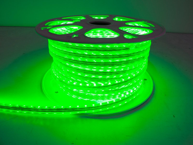 Race Sport Lighting Green 5050 164-foot Weatherproof Pier Light Strip 110 Volt - MS-5050-164FT-G