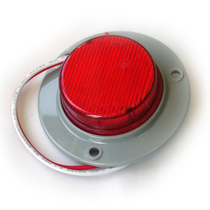 Race Sport Lighting Red Truck and Trailer LED Round  2.0 Inch - RS-2-3HR