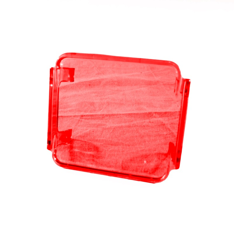 Race Sport Lighting Red Translucent 3x3in Protective Spotlight Cover - RS-3X3C-R