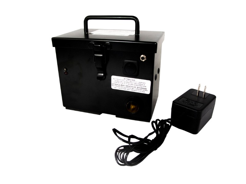 Race Sport Lighting 12V Black Rechargeable Battery Box with Pigtail Plug & Clips - RS-CHARGEBOX