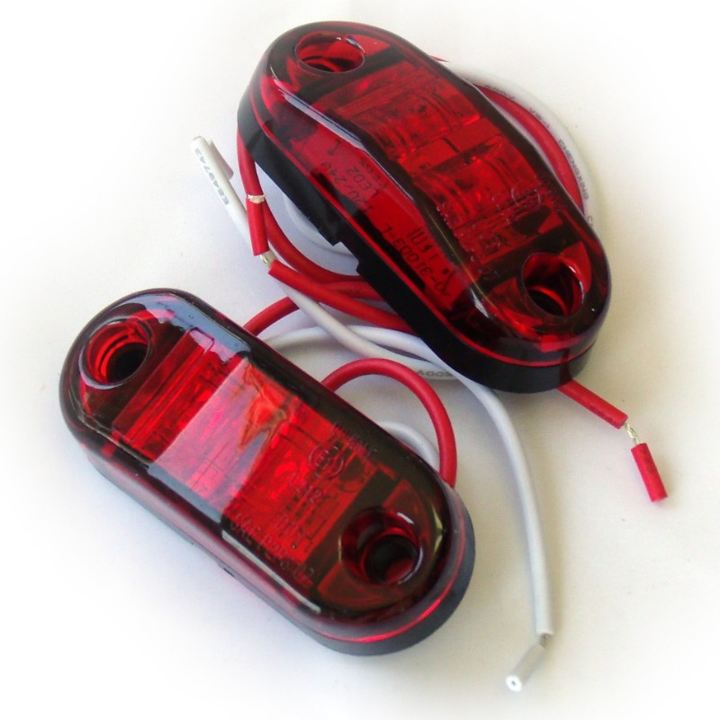 Race Sport Lighting Red Truck and Trailer LED Marker 2.5 x 1 Inch - RS-O2.5-2HR