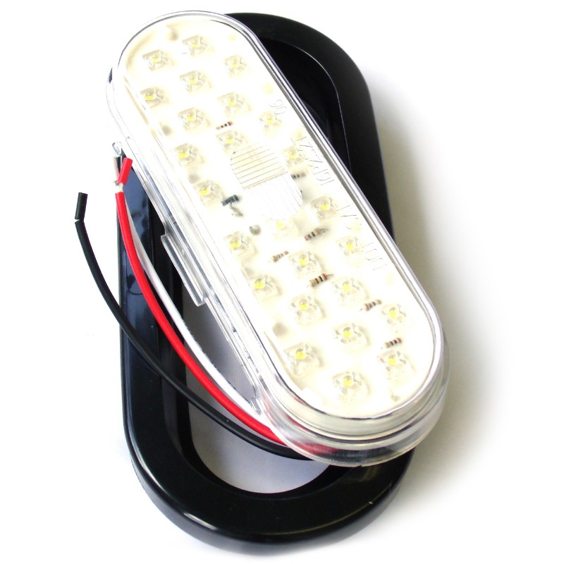 Race Sport Lighting White Truck and Trailer LED with Grommet 6x2.5 Inch - RS-O6.5-GW