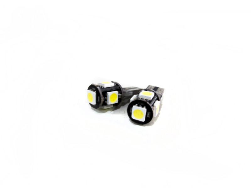 Race Sport Lighting Green T10-5 5050 Canbus LED  Pair - RS-T10-5-5050CAN-G
