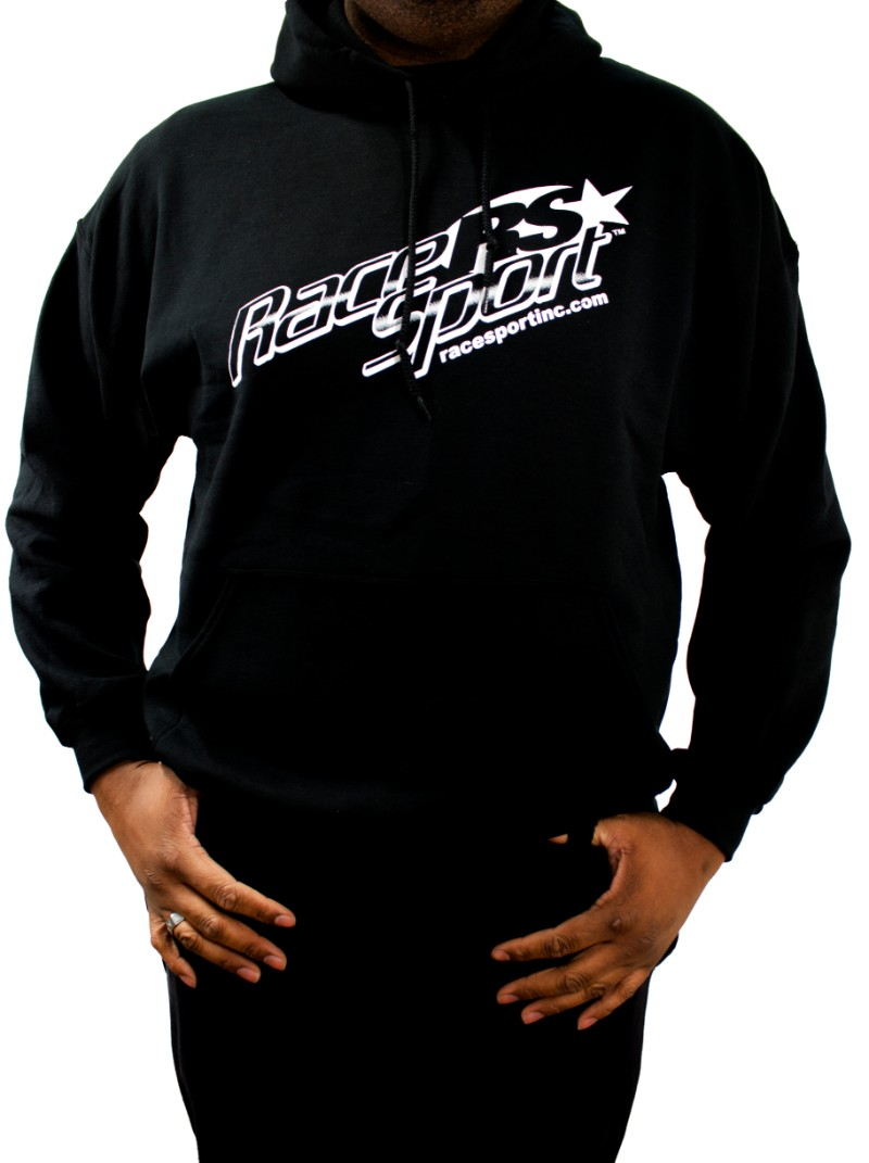 Race Sport Lighting Black Men's Heavy Blend Hooded Sweatshirt Extra Large - RS342BXL