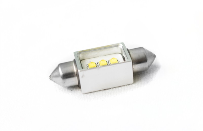 Race Sport Lighting White 36mm Festoon BLAST Series Hi Power 5-Watt CREE LED Replacement Bulbs - RS36MMHPW