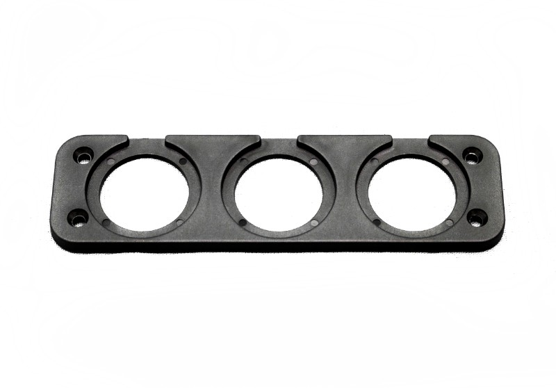 Race Sport Lighting Three Hole Rear Panel Mount for Round Digital Voltage Gauges - RS3HRP