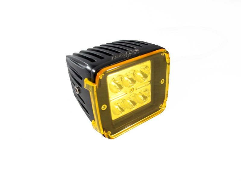 Race Sport Lighting Street Series 3x4 Inch 24W 6-LED CREE Cube Spot Light with Optional Amber Cover Individual - RS6L24WC