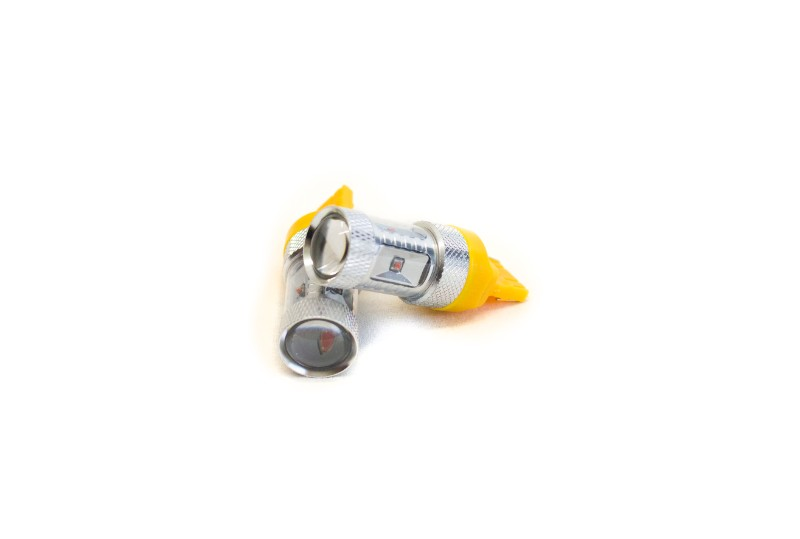 Race Sport Lighting Amber 7440 BLAST Series Hi Power 30W CREE LED Replacement Bulbs Pair - RS7440HPA