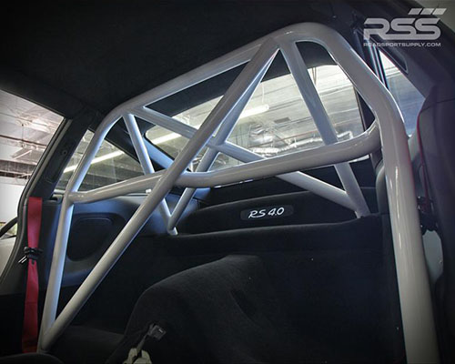 RSS 931 Series 4 Point 1.75 X-Brace Style Chromoly Bolt-In Competition Rollbar-White Porsche 911 99-12 - 931/32