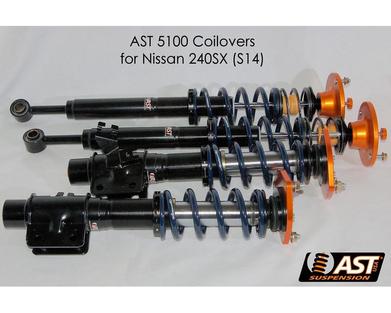 AST 5100 Series Monotube Coilovers w/Springs Nissan 240SX 95-98 - ACU-N2002S