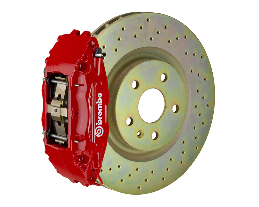 Brembo GT 355x32 1-Piece 4 Piston Front Drilled Big Brake Kit Ford Mustang GT 05-14