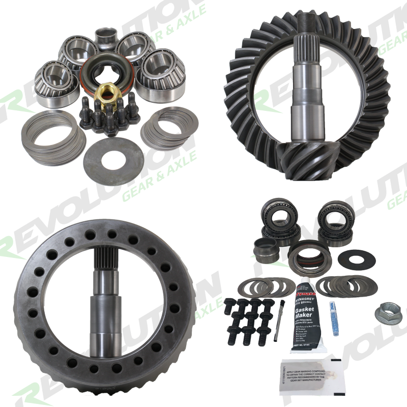 Revolution Gear and Axle JK Non-Rubicon 4.56 Ratio Gear Package (D44-D30) with Koyo Bearings (Front Carrier Required When Upgrading From Factory 3.21  Ratio Only) - Rev-JK-Non-456-K