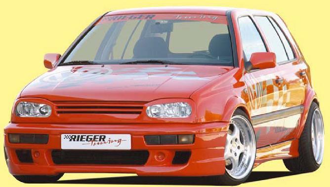 Rieger DTM Splitter for R-RX Front Bumper w/ Mesh Bended Version Volkswagen Golf III 93-99 - R 42029