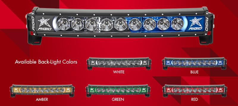 Rigid Industries Raciance White Back Light 30 Curved Light Bar