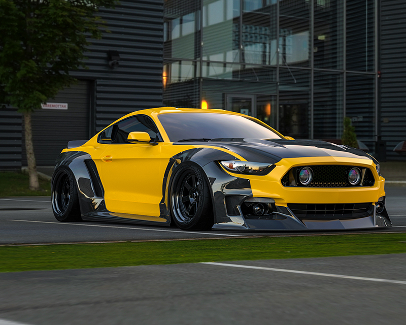 Clinched Flares Widebody Kit Ford Mustang S550 GT | GT350 | EcoBoost | V6 15-20 - S550-ABS