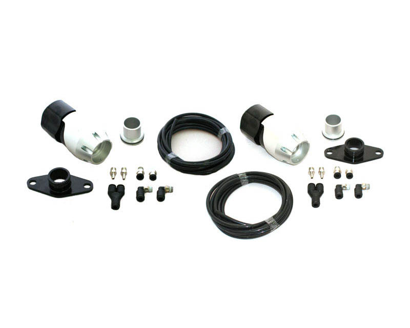 Synapse Engineering Silver/Black Synchronic Twin Blow off Valve Kit Nissan GT-R R35 09-16 - SB001A.KIT002