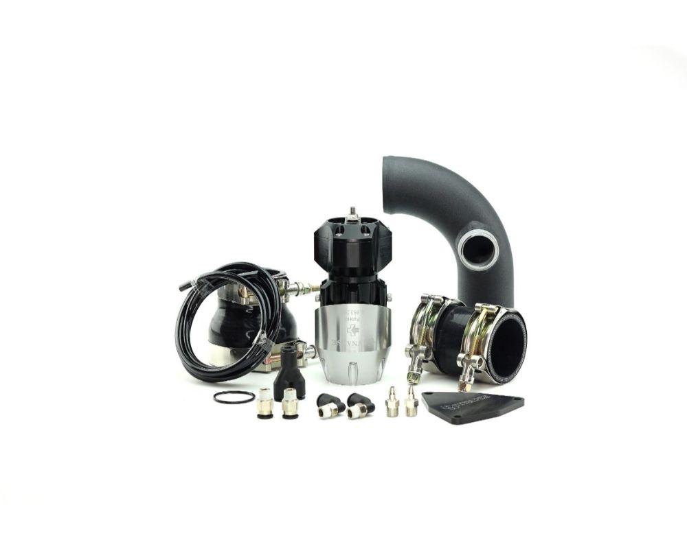 Synapse Engineering Silver/Black Synchronic Blow off Valve Kit with Black Powdercoat Charge Pipe Hyundai Genesis 2.0T 10-12 - SB001A.KIT018