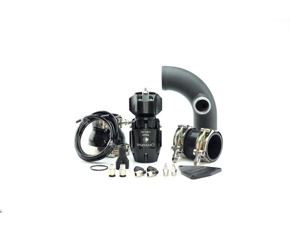 Synapse Engineering Black Synchronic Blow off Valve Kit with Black Powdercoat Charge Pipe Hyundai Genesis 2.0T 10-12 - SB001B.KIT018