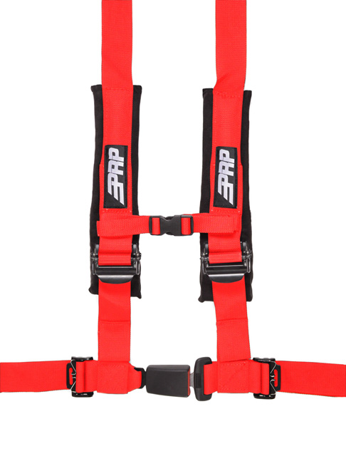 2 Inch 4 Point Harness Red PRP Seats - SBAuto2R