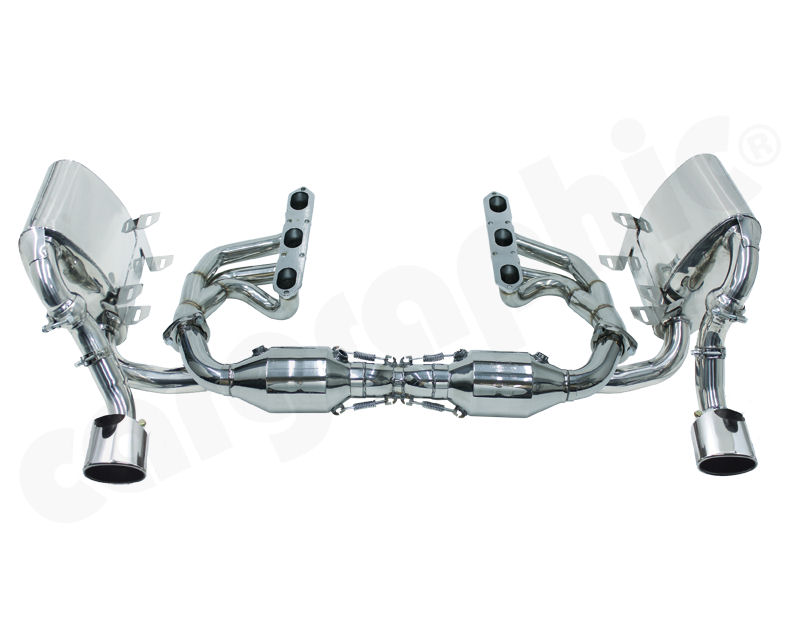 Cargraphic Sport Exhaust System without Integrated Exhaust Flaps Porsche 996 3.4L C2 | C4 98-05 - PERP9634KITX