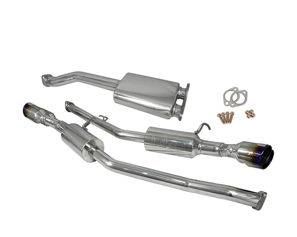 Image of Injen Stainless Steel 60mm Cat Back w X-pipe Ti Tips Hyundai Genesis Coupe 3.8L 10
