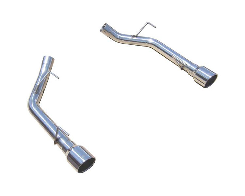 Axle Back Muffler Delete System Split Rear Dual Exit Hardware Incl 2.5 in Intermediate Pipe And Tailpipe Natural 409 Stainless Steel Muffler Not Incl Black Tips Pypes Exhaust - SFM62SSB