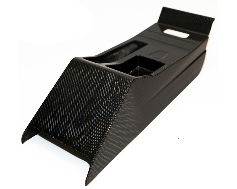 Status Gruppe SCZA CSL Carbon Fiber Center Console 2x2 with Ebrake Boot RHD Version BMW E46 M3 01-06 - SGTE46CSLCC2X2REB