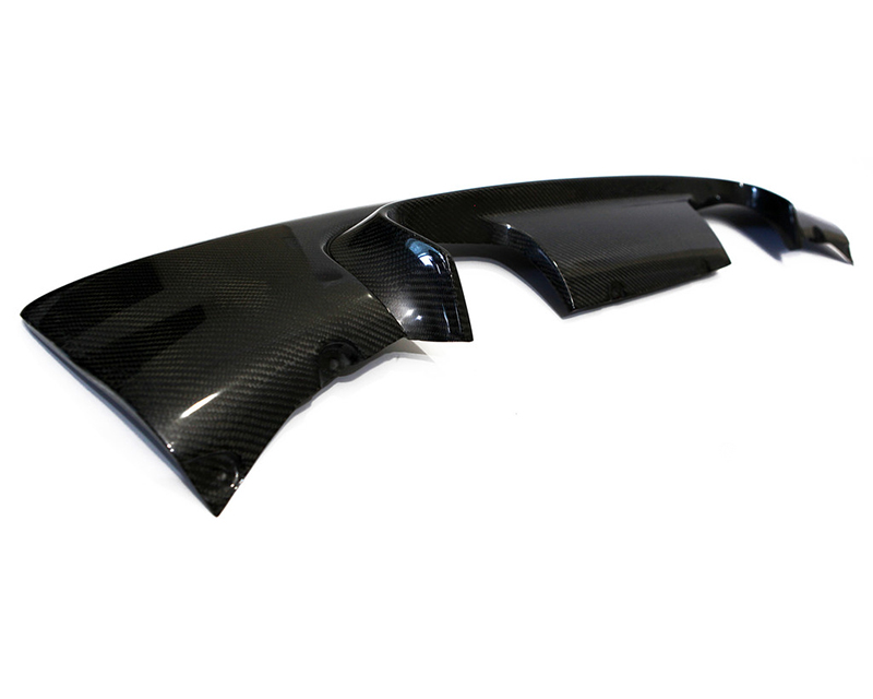 Status Gruppe CSL Style Rear Diffuser 2x2 Carbon Fiber With Paint Option BMW E46 M3 01-06 - SGTE46M3CSLD2x2P
