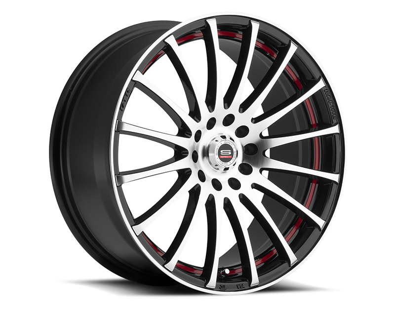 Spec-1 Wheels SP-12 Gloss Black Machined Red Line Wheel 18x8 4x100 | 4x114.3 38mm - SP12Y1880938GBMR