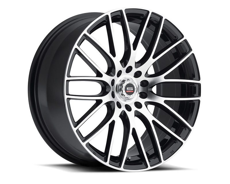 Spec-1 Wheels SP-20 Gloss Black Machined Wheel 17x7.5 5x100 | 5x114.3 38mm - SP20Y17752338GBM