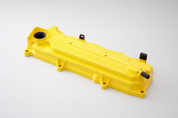 SPOON Sports Engine Valve Cover Yellow Honda CRZ 11-13 - 12310-GE8-Y00