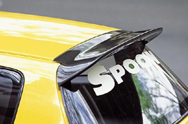 SPOON Sports Roof Spoiler|Hatch Spoiler - Carbon - Honda Civic EG6 92-95 - 68800-EGA-000