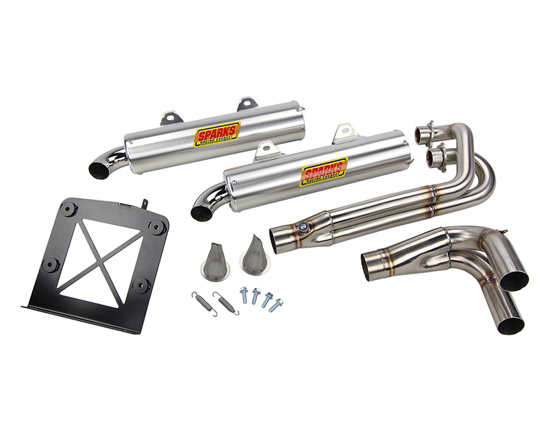 Sparks Racing X-6 Gen 2 Stainless Steel Exhaust System Polaris RZR XP 900 11-13 - SR-X6-Exh-SysRZR900