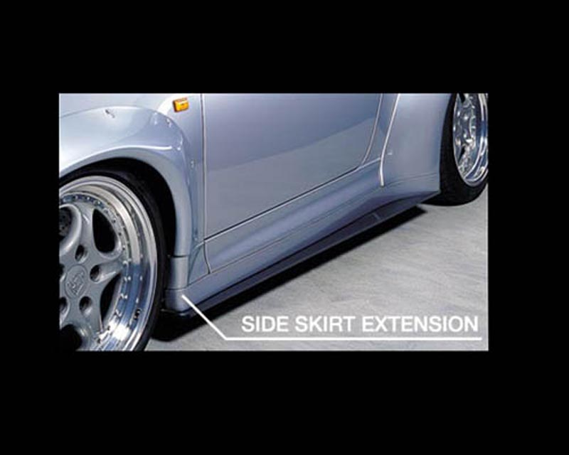 GruppeM Aerodynamics Side Skirt Extension Porsche 993 GT2 96-98 - SSEF-993T