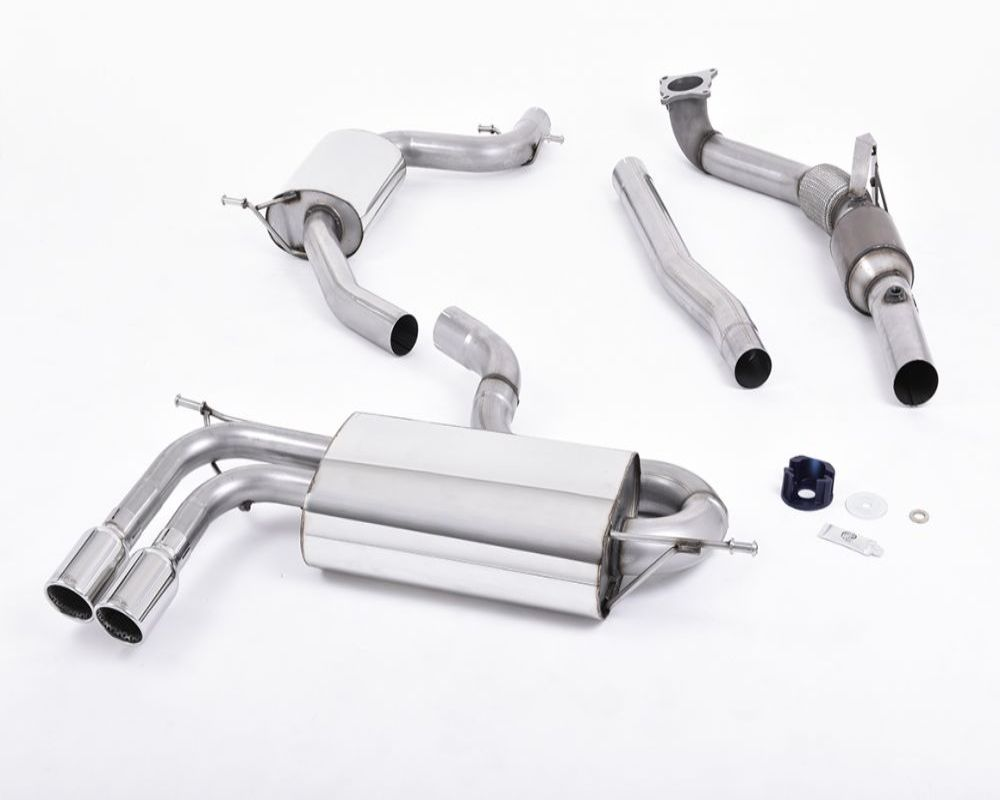 Milltek 3 Inch Racing Downpipe with High Flow Sports Cat Volkswagen Golf Mk6 GTi 2.0 TSI 210PS 10-14 - SSXAU200R