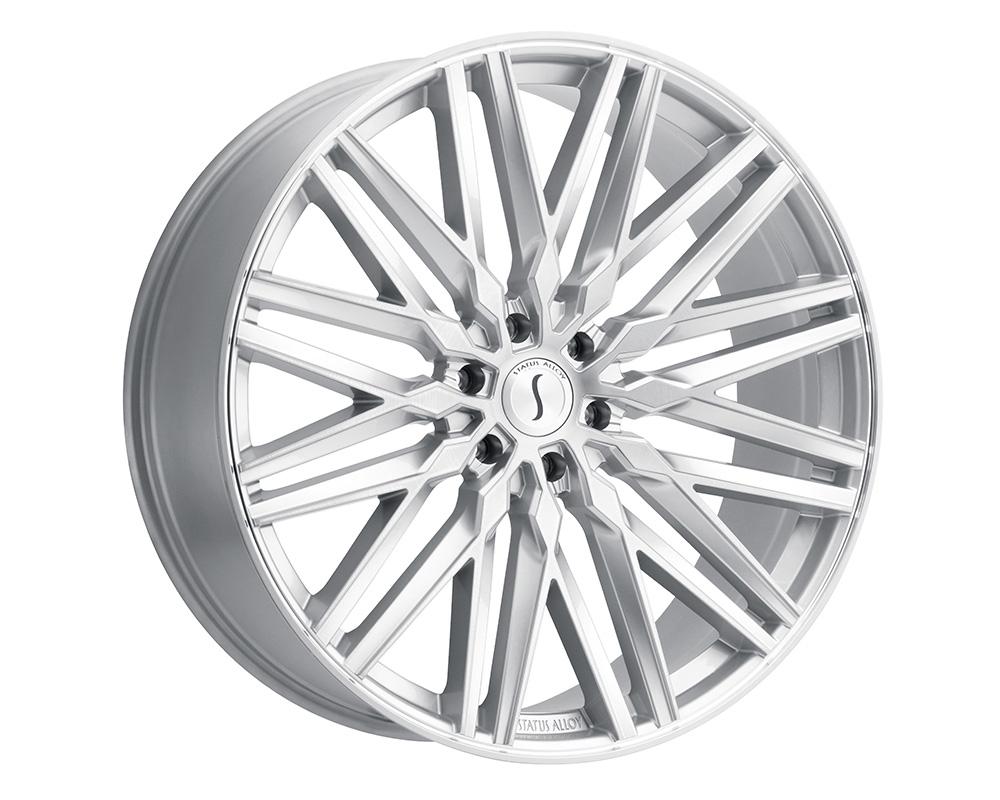Status Adamas Wheel 22x9.5  6x135 30mm Silver w/ Mirror Face - 2295ADM306135S87