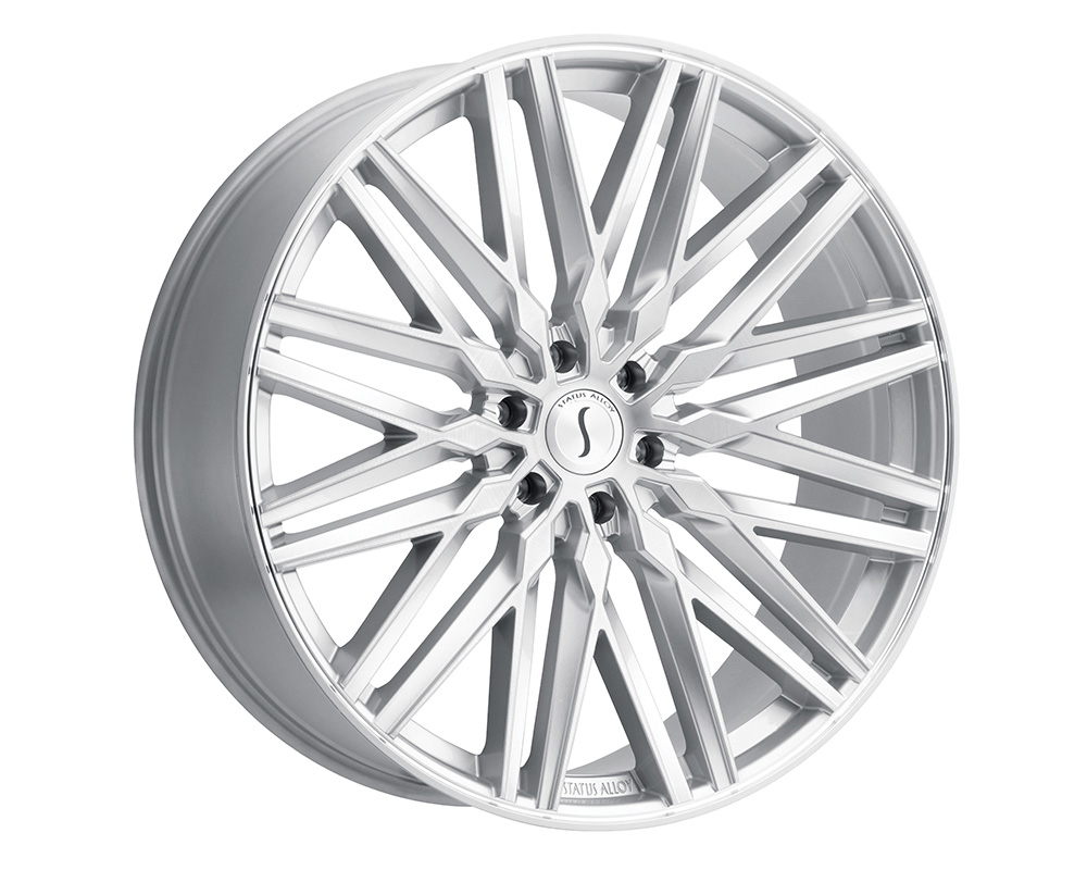 Status Adamas Wheel 24x9.5  6x139.7 15mm Silver w/ Mirror Face - 2495ADM156140S12