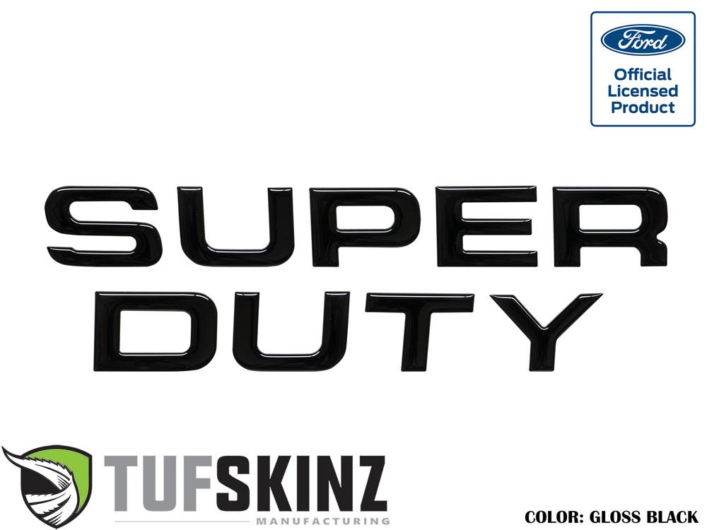 Tufskinz SUP002-BLK-G Hood Inserts Fits 08-16 Ford Super Duty 9 Piece Kit Gloss Black