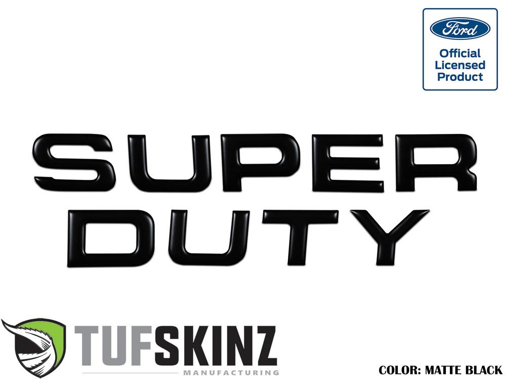 Tufskinz SUP002-BLK-M Hood Inserts Fits 08-16 Ford Super Duty 9 Piece Kit Matte Black