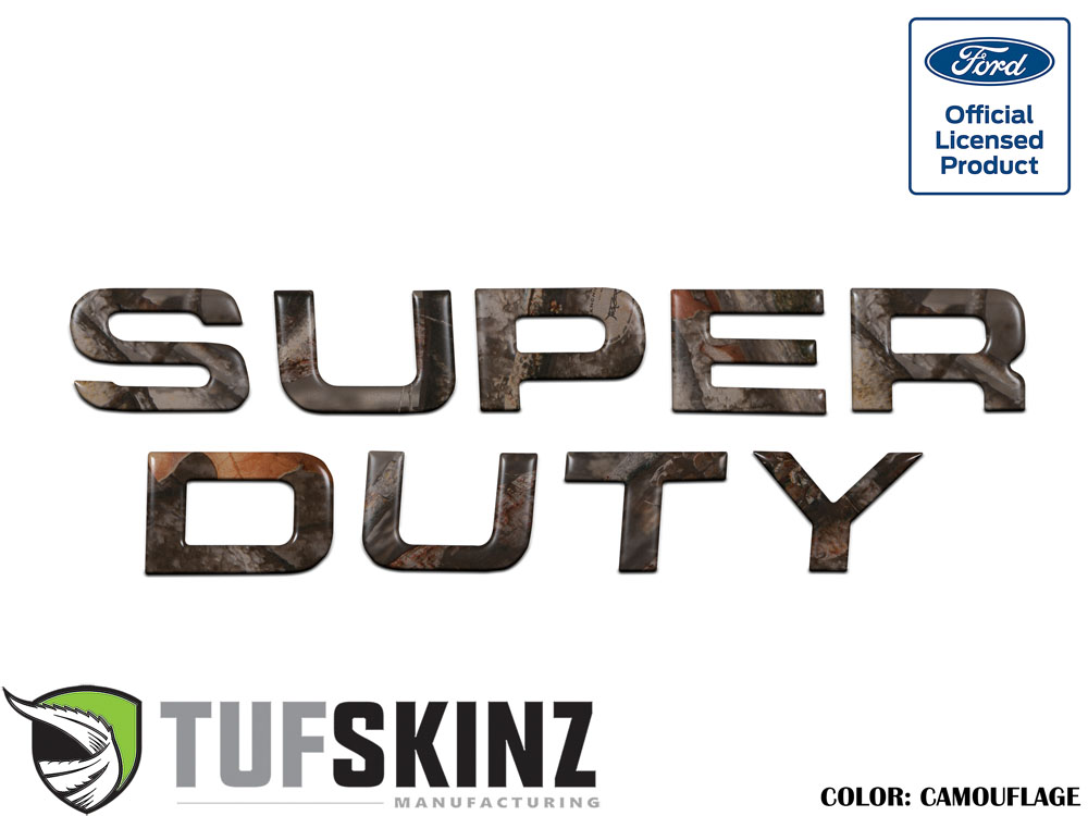 Tufskinz SUP002-CAM-M Hood Inserts Fits 08-16 Ford Super Duty 9 Piece Kit in Camouflage