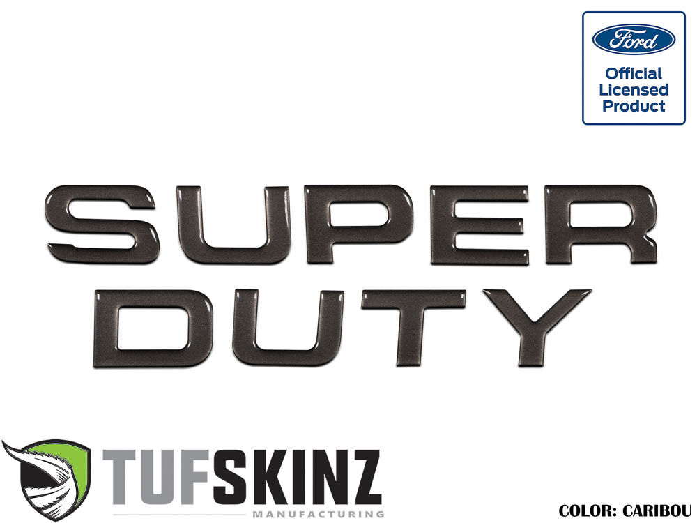 Tufskinz SUP002-CAR-G Hood Inserts Fits 08-16 Ford Super Duty 9 Piece Kit in Caribou