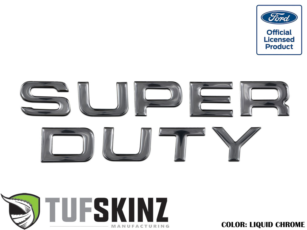 Tufskinz SUP002-DC-G Hood Inserts Fits 08-16 Ford Super Duty 9 Piece Kit in Liquid Chrome