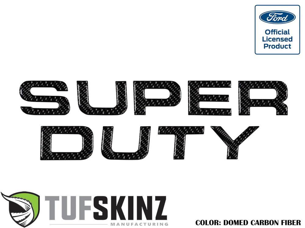 Tufskinz SUP002-DCF-G Hood Inserts Fits 08-16 Ford Super Duty 9 Piece Kit Domed Carbon Fiber
