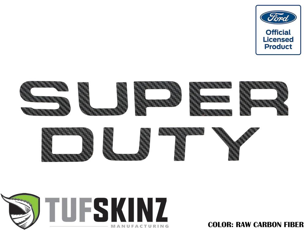 Tufskinz SUP002-RCF-X Hood Inserts Fits 08-16 Ford Super Duty 9 Piece Kit Raw Carbon Fiber