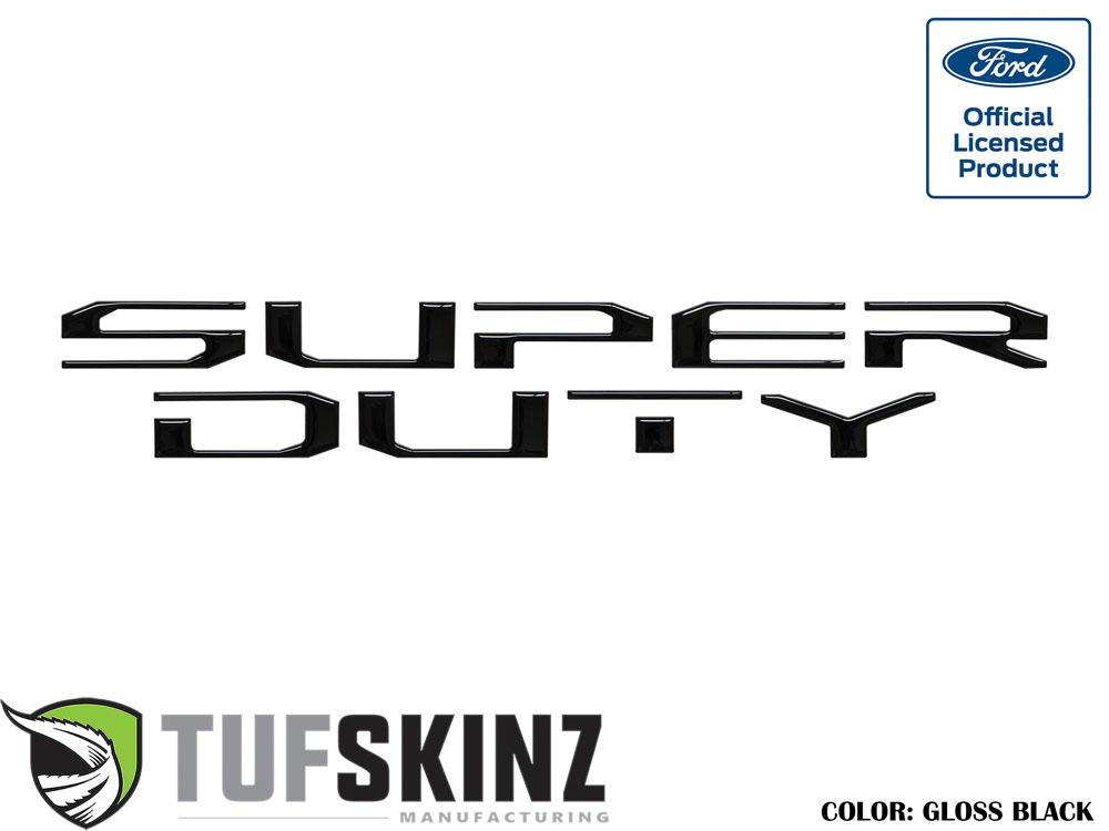 Tufskinz SUP008-BLK-G Hood Inserts Fits 2017-2021 Ford Super Duty 10 Piece Kit Gloss Black