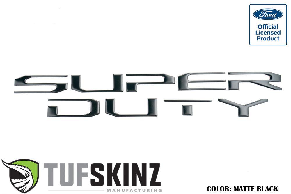 Tufskinz SUP008-BLK-M Hood Inserts Fits 2017-2021 Ford Super Duty 10 Piece Kit Matte Black