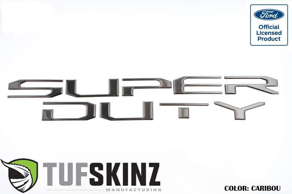 Tufskinz SUP008-CAR-G Hood Inserts Fits 2017-2021 Ford Super Duty 10 Piece Kit in Caribou