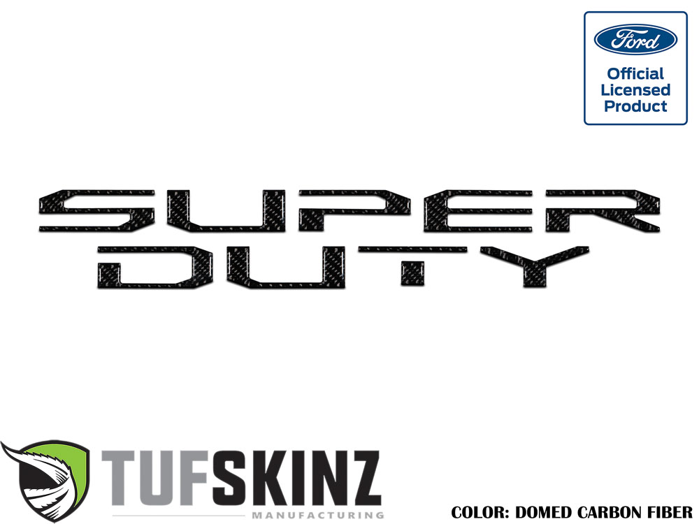 Tufskinz SUP008-DCF-G Hood Inserts Fits 2017-2021 Ford Super Duty 10 Piece Kit Domed Carbon Fiber
