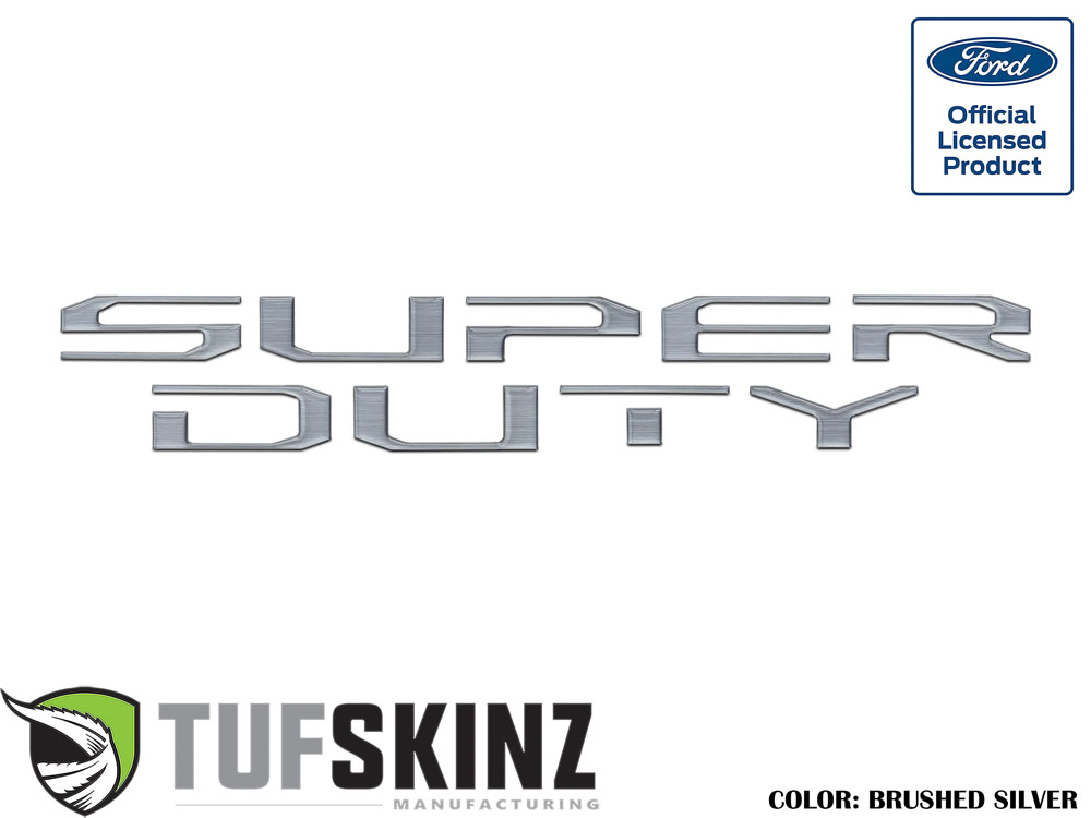 Tufskinz SUP008-DUM-G Hood Inserts Fits 2017-2021 Ford Super Duty 10 Piece Kit in Brushed Silver